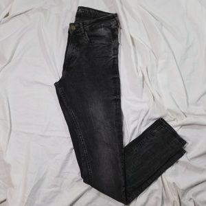 Zara Demin Collection Mens Faded Black Skinny